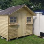 20 6x8 BarrelBoard Shed with metal roof