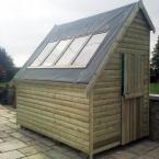 16 12x8 Barrelbaord Potting Shed