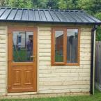 32 10x8 Tongue and Groove Shed PVC Door and Window Box Profile Roof