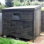 02 8x6 Rustic Lean to Shed Painted Black