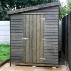 01 8x6 Rustic Lean to Shed Painted Black