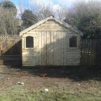 15 14x10 T&G Tan Shed with metal roof