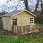 12 10x12 T&G Tan Shed with custom windows