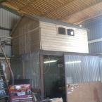 04 10x8 Tongue and Groove Shed on elevated platform