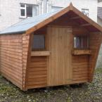12 10x8 Rustic Shed with blinker sides